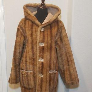 Jones New York Faux Fur Reversible Coat - M